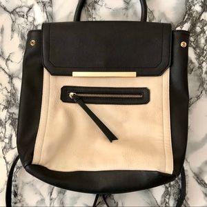 NM Black & Cream Color-Block Mini Backpack! 🖤